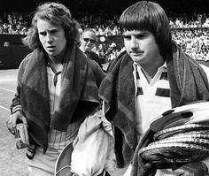 John McEnroe and Jimmy Connors - tennis friends and foes - 1978