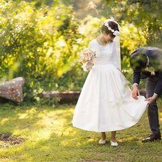 いつもありがとう* #3月9日 #サンキューの日 #ありがとう #結婚記念日 #結婚式 #ウェディング #自宅結婚式 #ミモレ丈 #ミモレ丈ドレス #袖ありドレス #couturemaman #アトリエみちくさ