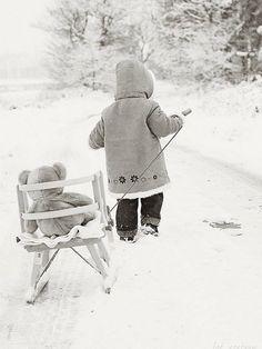Pulling a sled :: winter :: Alpenstrasse