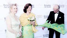 misshonoriaglossop: Countess Marianne Bernadotte, Queen Silvia, and King Carl Gustaf at the Bernadotte Art Awards, June 3, 2014