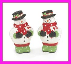 Whimsical Christmas Snowman Salt and Pepper Shaker Set Adorable Holiday Kitchen Decor Cute Snowman, Christmas Snowman, Christmas Scenes, Snowmen, Xmas, Christmas Dining Table, Holiday Tables, Christmas Characters, Whimsical Christmas