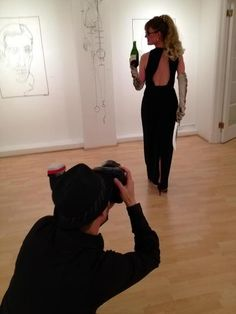 Master Sommelier Catherine Fallis prepares to Saber a bottle of Champagne for Champagne Socials at Nieto Fine Art Gallery in San Francisco Champagne Bottles, Fine Art Gallery, San Francisco, Events, Women, Art Gallery, Woman