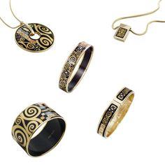 Klimt inspired jewelry by Frey Wille       www.frey-wille.com