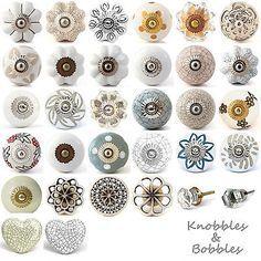 White-cream-ceramic-knobs-drawer-pulls-cupboard-door-knobs-porcelain-china-gold