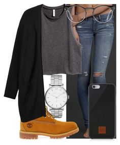 """Hijack"" by mallorimae ❤ liked on Polyvore featuring Abercrombie & Fitch, Marc by Marc Jacobs, Timberland, H&M, Monki, Native Union and Spitfire"