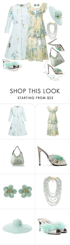 """Slip 'Em On: Mules"" by ragnh-mjos ❤ liked on Polyvore featuring Ted Baker, Alice McCall, Prada, Carolee and Flora Bella"