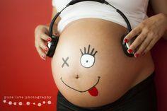 maternpanza pintada, foto de panza, embarazo, pregnancy, belly, painting, Pure…