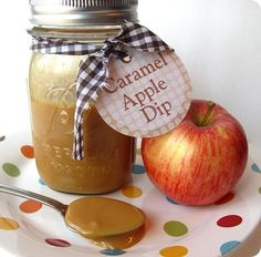 """Love this! This only uses two ingredients ~ """"You can even add a spoonful to your cup of hot apple cider and there you go….your own version of some fancy drink they sell at Starbucks, but it costs a whole lot less."""" {label print-out included on post!}"""