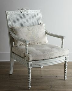 "Shabby Chic ""Landen"" Parlor Chair - Horchow"