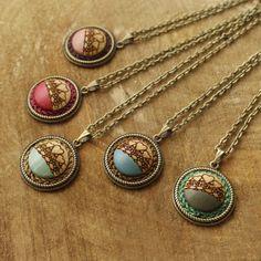 """25 Likes, 1 Comments - Handmade Jewelry Kvičke Kvačke (@kvickekvacke) on Instagram: """"Tiny #cute pendants #nowavailable #handmade #handpainted #woodenpendant #wood #ecofashion #crochet…"""""""