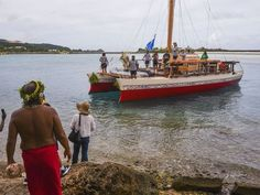 The 50-foot open ocean sailing vessel, Okeanos Marianas,