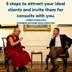 Here are 5 critical steps to attract your ideal clients and then invite them for consults with you. Which are you already using?