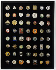 52 employee badges dating from 1910 to the 1950s, covering occupations from military contractors to factory workers, radio station employee's, metal workers, ship yard workers, to such companies as Campbell Soup, Borden's and Frigidaire.