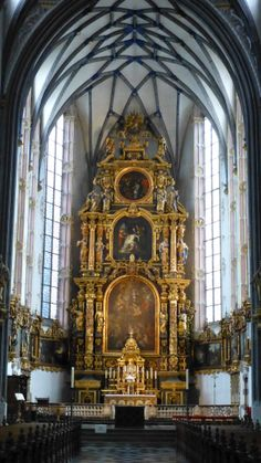 A Jesuit church in Cologne, the altar nearly three floors high.