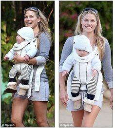 Baby wearing city walks for mama and babe