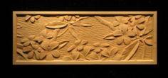 Wood Carved Panel - Plumeria