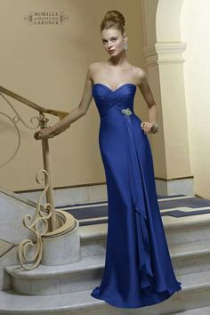 Mori Lee slimming silk sweetheart gown