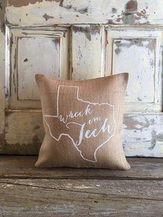Burlap Pillow God Bless Texas pillow Texas by TwoPeachesDesign Christmas Pillow, Christmas Gifts, Burlap Pillows, Throw Pillows, Virginia Is For Lovers, Sweet Home Alabama, Texas Tech, Engagement Gifts, Wedding Engagement