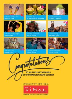 Congratulations to all the winners of #Unformal Navratri on winning the Gift voucher from OnlyVimal. Don't forget to DM us your contact details.