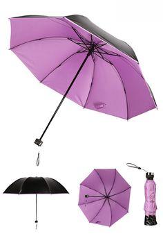 PuTwo Umbrella Korean Umbrella Ladies Anti-UV Windproof Folding Umbrella Perfectly portable! This folding umbrella features a lightweight, aluminum frame and collapses for easy storage. We design our