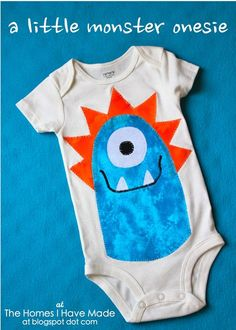 """The Homes I Have Made: Henry's """"Little Monster"""" Onesie"""