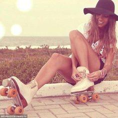 roller skating in the summer