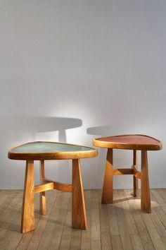 Charlotte Perriand (1903-1999) | Table guéridon pour l'hôtel Doron, Méribel, France | c. 1947