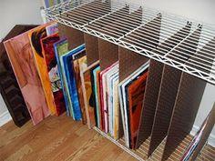 Wilde Designs: Painting Storage - Shelf Redesign