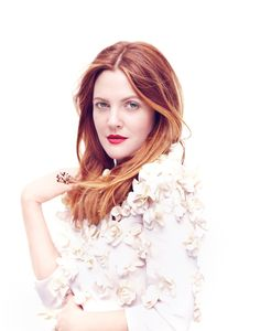Drew Barrymore Poses for Diego Uchitel in C Magazine - Drew – Actress Drew Barrymore graces the pages of a recent issue of C Magazine for this romantic shoot lensed by Diego Uchitel. The blonde star poses in looks styled by Jessica DeRuiter featuring summer florals photographed in a garden setting. Hair stylist John D created the actress's soft waves while makeup artist Deb Ferullo gives Drew the perfect red lip.