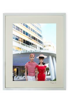 """Hand-signed Barbie and Ken at the Shelborne Framed Print - 17"""" W x 21"""" L x 1.5"""" D on HauteLook"""