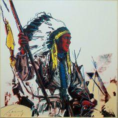 Andy Warhol Art Gallery | Andy Warhol, Cowboys & Indians: War Bonnet Indian - [II.373]