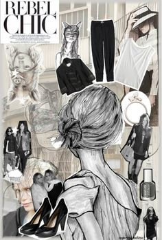 Fashion board- like the use of illistration