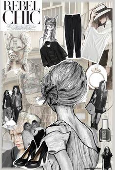 Fashion board- like the use of illistration