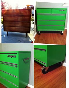 Before and after tool chest dresser