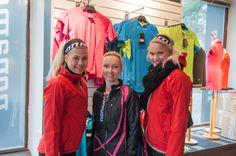 Juoksupuvun voittaja Sanna-Leena Linna kävi valitsemassa puvun suoraan Nonamen liikkeestä ja kertoi myöhemmin lenkkikärpäsen puraisseen.