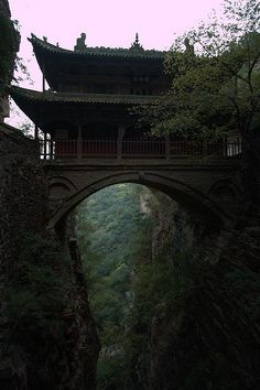 Hanging Palace, Cangyan Shan, China photo via jana