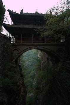 Hanging Palace, Cangyan Shan, China photo via jana