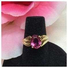Tourmaline set in 10k Yellow Gold Tourmaline set in 10k Yellow Gold, approximate size 5.5 Jewelry Rings