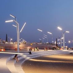 lighting boulevard Scheveningen Product design by ipv Delft