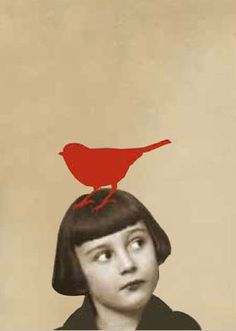 if I had bangs, this is what i would look like....   PUT A BIRD ON IT!