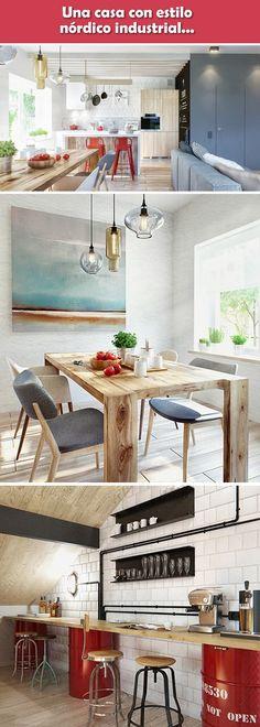 35 veces he visto estas agraciadas cocinas nordicas. Loft Style, Home Projects, Kitchen, Table, House, Furniture, Home Decor, Industrial Style, Kitchens