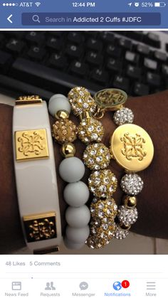 Gold & White Cuffs