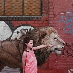 Hyperrealistic Painting of children and animals by #KevinPeterson