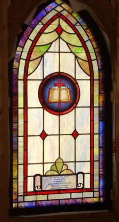 Stained Glass Windows at Shiloh Baptist Church in Atlantic, VA