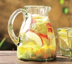 Recycled Glass Pitcher, have one and I love it, $29, Pottery Barn