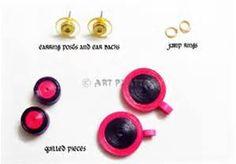 Tightly Quilled Earrings in Purple - DIY • Art Platter