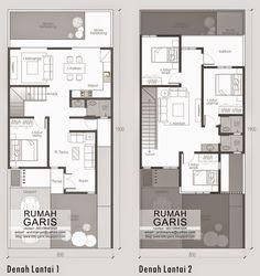 Desain Rumah Tinggal 2 lantai di Makassar ~ Rumah Garis