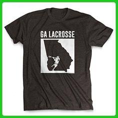 Georgia Lacrosse T-Shirt | Guys Lacrosse Tees by ChalkTalkSPORTS | Charcoal | Adult Large - Sports shirts (*Amazon Partner-Link)