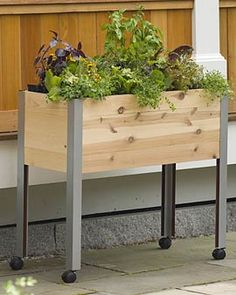 This standing garden would be great on a tiny apartment deck. Maybe even in combination with the pallet garden?
