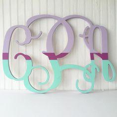 "Customized 24"" Unfinished Monogram Wood Sign - $17.99. https://www.bellechic.com/deals/4388988daa2d/customized-24-unfinished-monogram-wood-sign"